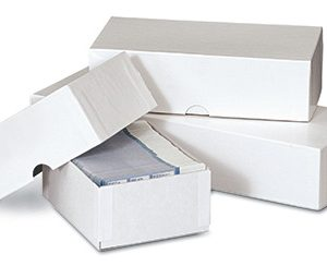 "10-1/2"" x 3-1/2"" x 2"" Business Card Box - White (50 per carton)"