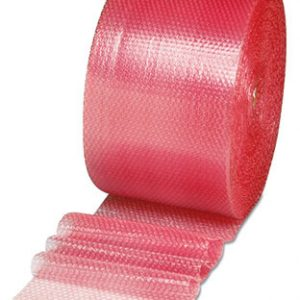 "24"" x 250' Sealed Air® Anti-Static Multi-Purpose Grade Bubble Wrap® Brand Cushioning - Pink Tinted (1/2"")"