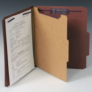 Smead Heavy Duty Partition Folder with 4 Fasteners - 25 PT. (Legal Size) - Brown (10 per box)