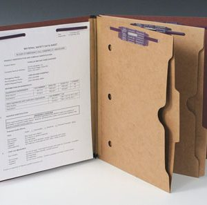 Smead Heavy Duty Partition Folder with 2 Pocket Dividers and 6 Fasteners - 25 PT. (Legal Size) - Brown (10 per box)