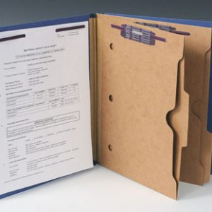 Smead Heavy Duty Partition Folder with 2 Pocket Dividers and 6 Fasteners - 25 PT. (Legal Size) - Blue (10 per box)