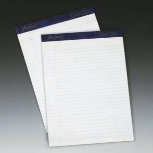 "8-1/2"" x 11-3/4"" Ampad® Ruled Paper Pads - White (50 Sheets per Pad) (12 per package)"