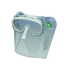 Green Jackson Safety* V90 Monoshield* Goggle Protection - Clear, VisiClear* (4/Pack) - R3-16671