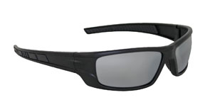 Black VX9 Safety Glasses - Smoke Mirror (24/Pack) - R3-5510-04