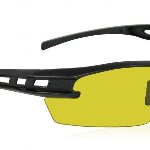Black Spectro Safety Glasses - Yellow (16/Pack) - R3-5511-03