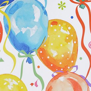 """Special Purchase Counter Rolls - Balloons & Ribbons 24""""x417' Gift Wrap Counter Roll (1 roll)"""