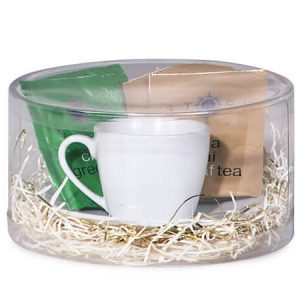 "Round Favor Containers - Round Display Favor Boxes - 3 Pc. Clear 6"" Dia x 3"" High (4 Packs; 12 boxes Per Pack)"