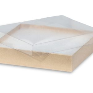 """Clear Lid Jewelry Boxes - 5-1/2x3-1/2x1"""" Clear Lid Jewelry Kraft Base ~ Non-tarnish Cotton (100 Boxes)"""
