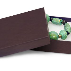"100% Embossed Jewelry Boxes - 3-1/2x3-1/2x7/8"" Chocolate Jewelry Matte Kraft w/ non-tarnishing Cott (100 boxes)"