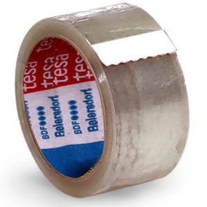 "2"" x 55 yds Tesa Clear 3"" Core (10 Rolls) - Shipping Tape"