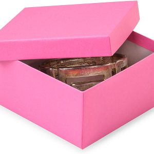 "Eco Tone Jewelry Boxes - 3-1/2x3-1/2x1-7/8"" Calypso Pink Eco Tone Jewelry Boxes (100 Boxes)"