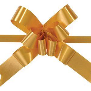 "Poly Butterfly Pull Gift Bows - Gold 4"" Butterfly Pull Bows Magic Pull Bows 100% Polypropylene (2 Packs; 100 Bows Per Pack)"