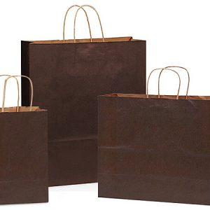 100% Recycled Kraft Tint Bags - Chocolate 100% Recycled Kraft Asst. 150 Cub, 100 Vogue, 50 Queen (300 bags)