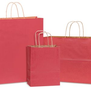 100% Recycled Kraft Tint Bags - Christmas Red 100% Recycled Kraft Asst. 150 Cub, 100 Vogue, 50 Queen (300 bags)