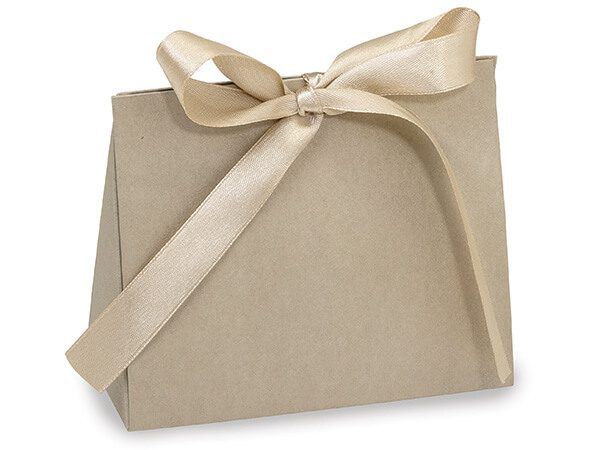 """Purse Tote Gift Bags - Champagne Matte Purse Totes Small 4-1/2x2x3-3/4"""" (100 bags)"""