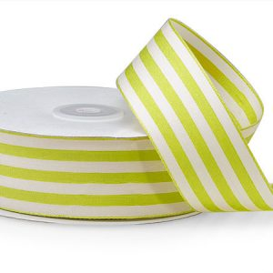 "Apple Cabana Stripes Ribbon 1-1/2""x25 yds 100% Nylon (4 rolls)"