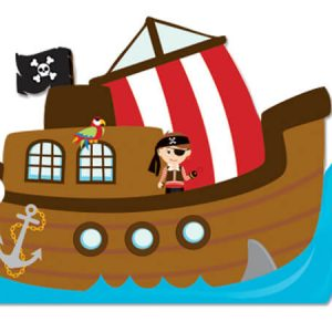 "All Occasion Theme Gift Cards - Pirate Ship Theme Gift Cards 3 -3/4x2 -3/4"" (30 Packs; 6 Cards Per Pack)"