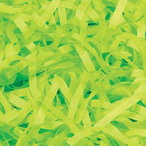 Bright Lime Tissue Paper Shred 1 lb Bag (4 Bags)