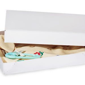 """Recycled White Apparel Boxes - White Economy 11 - 1/2x8 - 1/2x1 - 5/8"""" 100% Recycled ~ 2 Piece Pop Up Box (100 boxes)"""