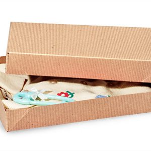"""Recycled Kraft Apparel Boxes - Brown Kraft 11 - 1/2x8 - 1/2x1 - 5/8"""" 100% Recycled ~ 2 Piece Pop Up Box (100 boxes)"""
