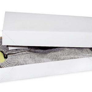 """Recycled White Apparel Boxes - White Economy Apparel 17x11x2 - 1/2"""" 100% Recycled ~ 2 Piece Pop Up Box (50 boxes)"""
