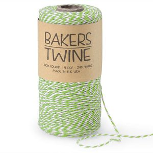 Apple Green & White Twine 240 yds 4-ply 100% Cotton Baker's Twine (3 rolls)