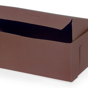 "Bakery Boxes - 6 - 1/4x3 - 3/4 X2 - 1/8"" Chocolate Box 1 - piece Lock Corner Box - (250 Per Pack)"