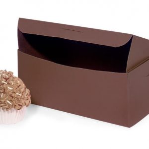"Bakery Boxes - 8x5 - 1/2x3"" Chocolate Boxes 1 - piece Lock Corner Box - (250 Per Pack)"