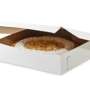 "Bakery Boxes - 10x10x2 - 1/2"" White Bakery Boxes 1 - piece Lock Corner Box - (250 Per Pack)"
