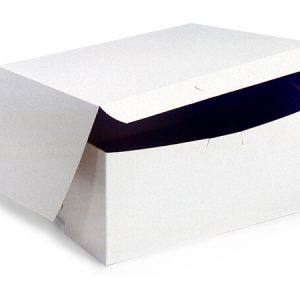 "Bakery Boxes - 7x7x4"" White Bakery Boxes 1 - piece Lock Corner Box - (200 Per Pack)"