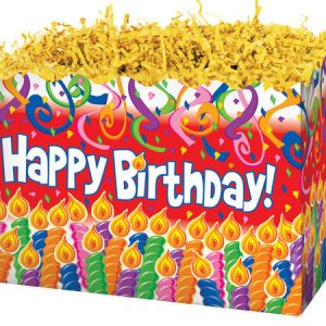"""Special Occasion Baskets Boxes - large_Birthday Candles Basket Boxes 10-1/4x6x7-1/2"""" - (2 Packs; 6 Boxes Per Pack)"""