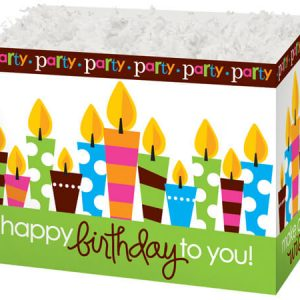 """Special Occasion Baskets Boxes - large_Birthday Party Basket Boxes 10-1/4x6x7-1/2"""" - (2 Packs; 6 Boxes Per Pack)"""