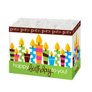 """Special Occasion Baskets Boxes - Small Birthday Party Basket Boxes 6-3/4x4x5"""" - (5 Packs; 6 Boxes Per Pack)"""