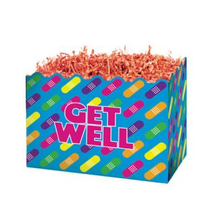 "Special Occasion Baskets Boxes - Small Rainbow Get Well Basket Boxes 6-3/4x4x5"" - (5 Packs; 6 Boxes Per Pack)"