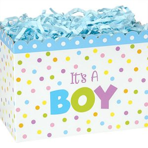 "Special Occasion Baskets Boxes - Small It's A Boy Basket Boxes 6-3/4x4x5"" - (5 Packs; 6 Boxes Per Pack)"