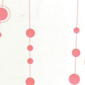 "All Occasion Print Cello Bags - Busy Baubles Coral 3 -1/2x2x7 -1/2"" Cello Bags 1.2 mil (3 Packs; 100 Bags Per Pack)"
