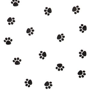"All Occasion Print Cello Bags - Paw Print 4x2x9"" Cello Bags 1.2 mil (3 Packs; 100 Bags Per Pack)"
