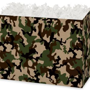 "All Occasion Basket Boxes - large_Camo Kraft Basket Boxes 10-1/4x6x7-1/2"" - (2 Packs; 6 Boxes Per Pack)"