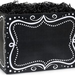 "All Occasion Basket Boxes - large_Chalkboard Borders Basket Boxes 10-1/4x6x7-1/2"" - (2 Packs; 6 Boxes Per Pack)"