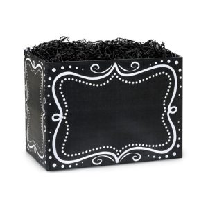 "All Occasion Basket Boxes - Small Chalkboard Borders Basket Boxes 6-3/4x4x5"" - (5 Packs; 6 Boxes Per Pack)"