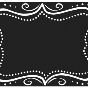 "All Occasion Theme Gift Cards - Chalkboard Borders Theme Gift Cards 3 -3/4x2 -3/4"" (30 Packs; 6 Cards Per Pack)"
