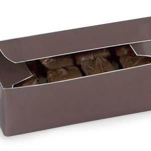 "1 Pc Candy Boxes - 1/2 lb Chocolate Candy Boxes 5 - 1/2x2 - 3/4x1 - 3/4"" - (2 Packs; 100 Per Pack)"