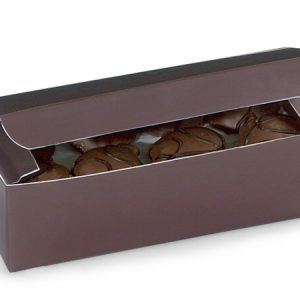 "1 Pc Candy Boxes - 1 lb Chocolate Candy Boxes 7x3 - 3/8x2"" - (2 Packs; 100 Per Pack)"