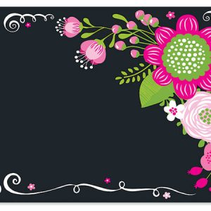 "All Occasion Theme Gift Cards - Chalkboard Flowers Theme Gift Cards 3 -3/4x2 -3/4"" (30 Packs; 6 Cards Per Pack)"