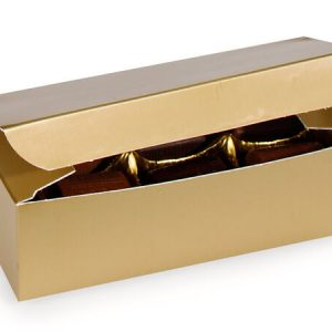 "1 Pc Candy Boxes - 1/2 lb Gold Candy Boxes 5 - 1/2x2 - 3/4x1 - 3/4"" - (2 Packs; 100 Per Pack)"