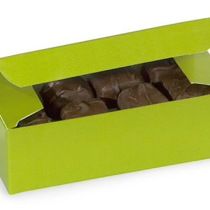"1 Pc Candy Boxes - 1/2 lb Leaf Green Candy Boxes 5 - 1/2x2 - 3/4x1 - 3/4"" - (2 Packs; 100 Per Pack)"