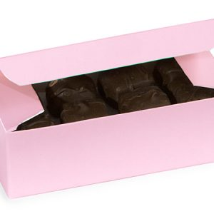 "1 Pc Candy Boxes - 1/2 lb Pink Candy Boxes 5 - 1/2x2 - 3/4x1 - 3/4"" - (2 Packs; 100 Per Pack)"
