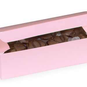 "1 Pc Candy Boxes - 1 lb Pink Candy Boxes 7x3 - 3/8x2"" - (2 Packs; 100 Per Pack)"