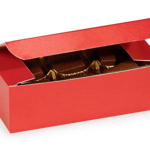 "1 Pc Candy Boxes - 1/2 lb Red Candy Boxes 5 - 1/2x2 - 3/4x1 - 3/4"" - (2 Packs; 100 Per Pack)"