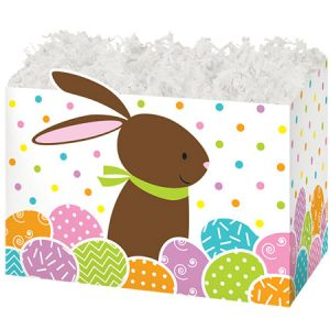 """Special Occasion Baskets Boxes - Small Chocolate Bunny Basket Boxes 6-3/4x4x5"""" - (5 Packs; 6 Boxes Per Pack)"""